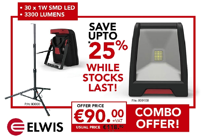 Elwis TL1 Offer - Task Lamp + Tripod