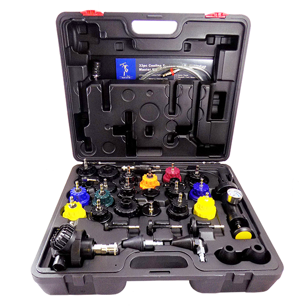 33pc Cooling System and Radiator Cap Master Kit