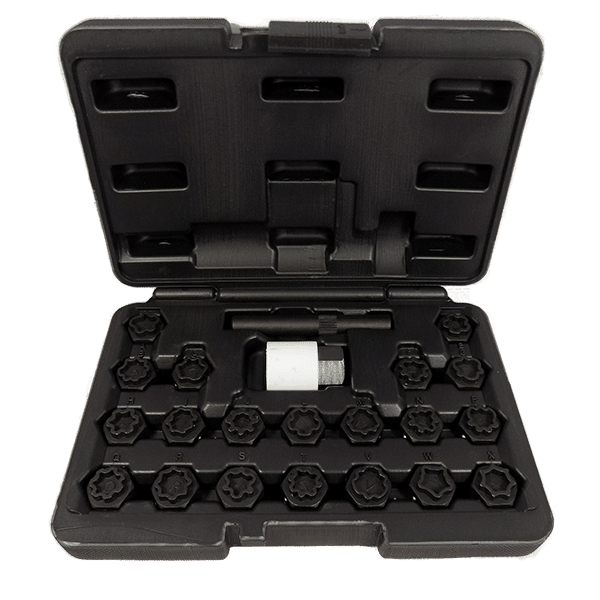 22PC Locking Wheel Nut Key Set