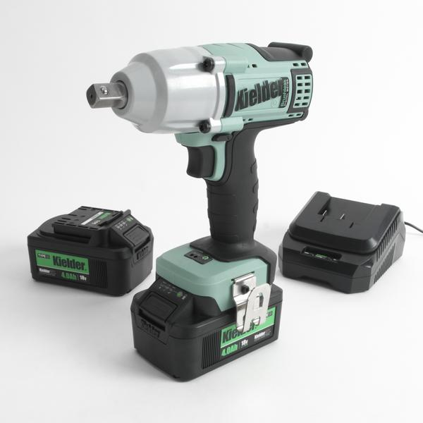 "700Nm 1/2"" Impact Wrench 18v Two Batt 4.0Ah 230v UK"