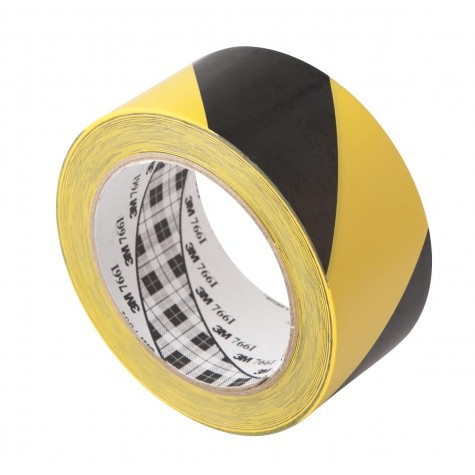 Black and Yellow Adhesive Safety Vinyl Tape