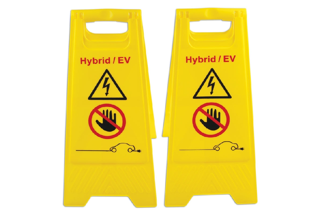 EV/Hybrid Floor Warning Signs 2pc