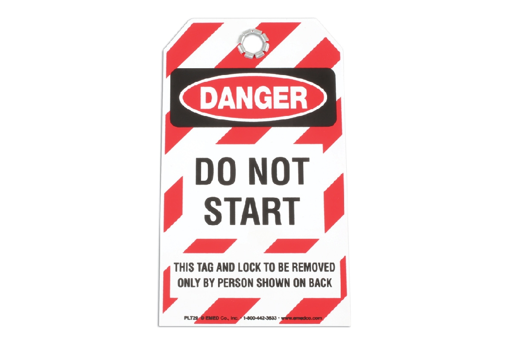 Safety Tag- DO NOT START