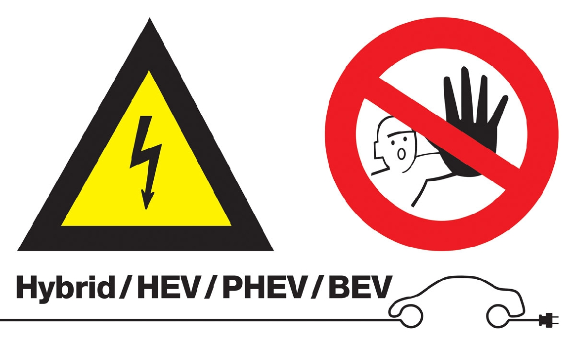 High Voltage/No Admittance Sign (without text)