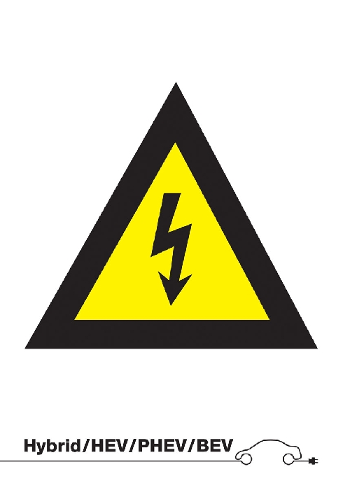 Danger High Voltage Sign (without text)